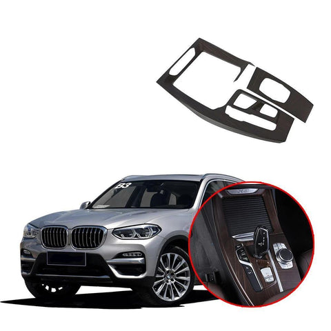 NINTE Interior Gear Shift Panel Covers Trim Console For BMW X3 G01 X4 2018 2019 - NINTE