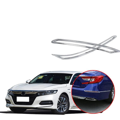 NINTE Tail Rear Fog Light Lamp Cover Trim for Honda Accord Sedan 2018 2019 Chrome - NINTE