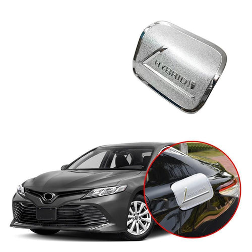 NINTE Car Fuel Tank Gas Lid Oil Box Cover Trim Decal Stickers Fit Toyota Camry 2018 2019 - NINTE