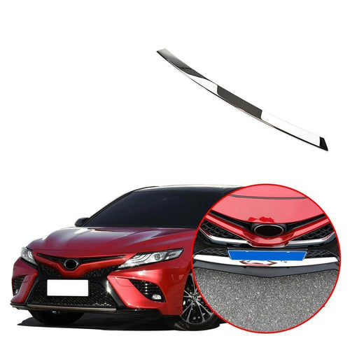 NINTE Chrome Front Bumper Cover Lower Trim Lip for TOYOTA Camry 2018 2019 - NINTE
