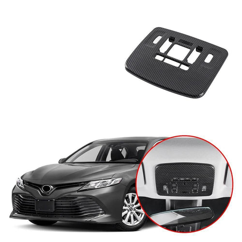 NINTE Carbon Fiber Front Reading Light Lamp Interior Cover For Toyota Camry 2018-2019 - NINTE
