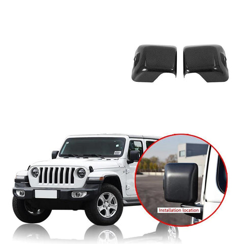 Color Rearview Mirror Decoration Frame Cover Trim ABS Fit for Jeep Wrangler JL 2018 2019 NINTE - NINTE