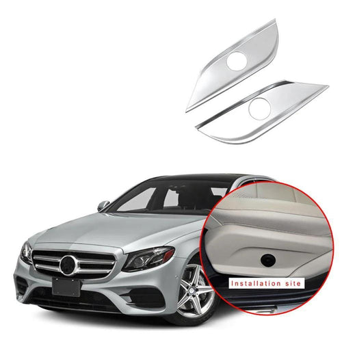2Pcs Car Seat Adjust Switch Button Cover Panel Trim For Mercedes Benz E Class W213 2016-2018 NINTE - NINTE