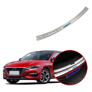 Car Accessories Interior Stainless Rear Outer Bumper Protector Scuff Plate Guard Cover Trim For HYUNDAI LA FESTA 2018-2019 NINTE - NINTE