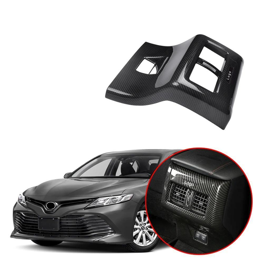 NINTE Car Back Rear Air Condition Outlet Vent Frame Cover For Toyota Camry 2018 2019 - NINTE