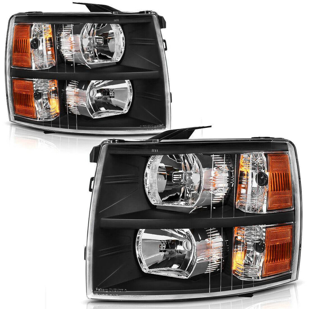 NINTE Headlight Fits 2007-2014 Chevy Silverado 1500 2500 HD