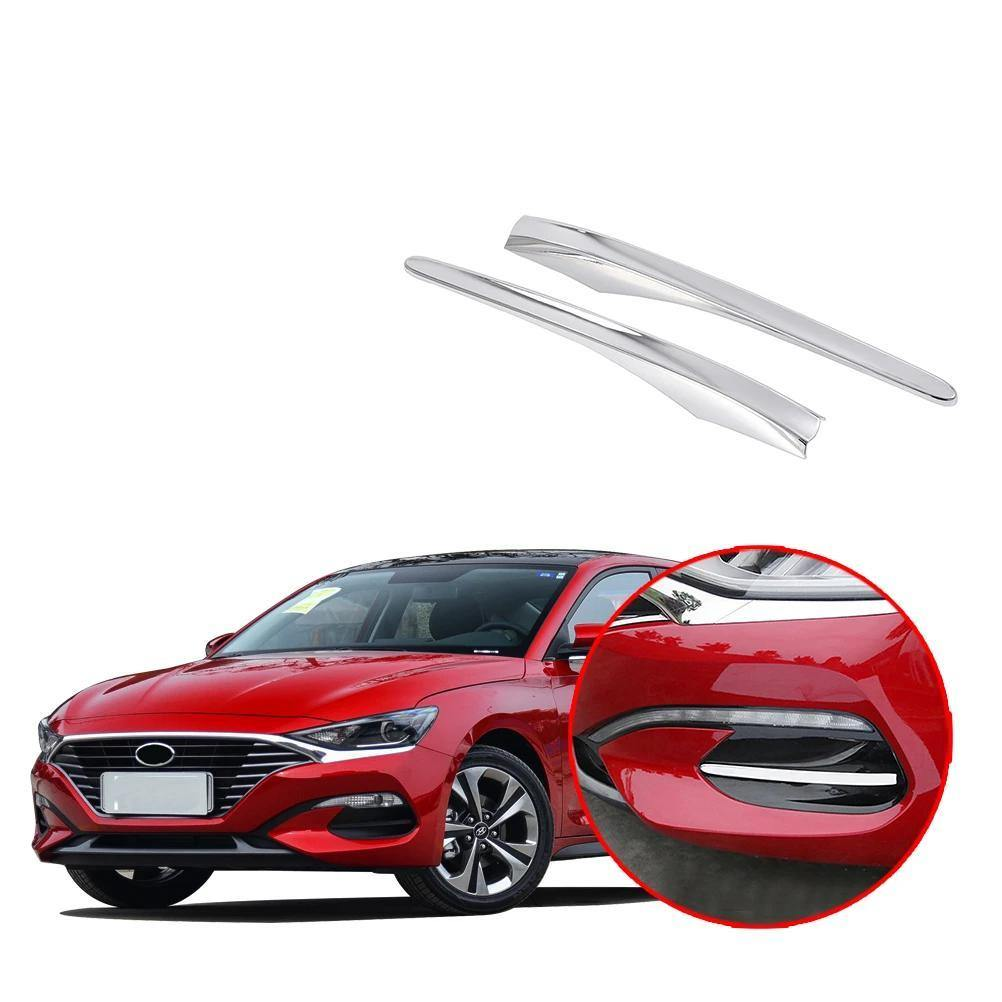 NINTE Hyundai Lafesta 2018-2019 ABS Chrome Front Tail Fog Light Lamp Cover - NINTE