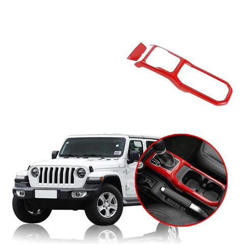 NINTE Car Gear Shift Box Panel Cover Trim Strips Garnish Decoration Protection For Jeep Wrangler JL 2018 2019 - NINTE