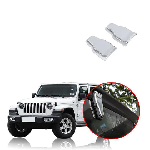 NINTE Car Exterior Tailgate Glass Hinge Cover Decoration Cover Stickers For Jeep Wrangler JL 2018 2019 - NINTE