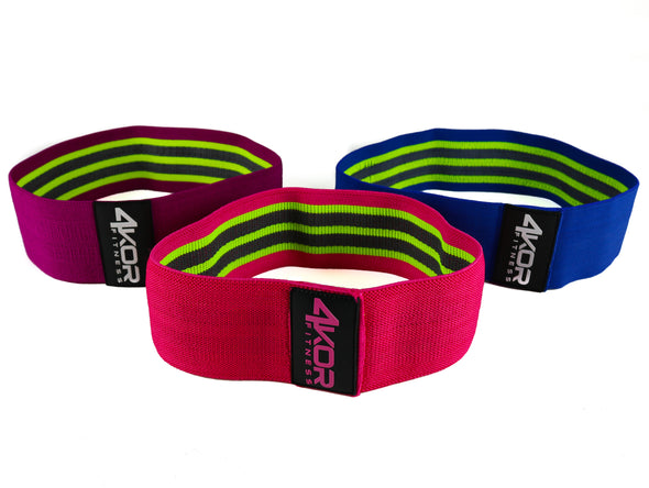 "Resistance Bands | Non-Slip Fabric | Ultra Comfortable | 3"" Booty Bands"