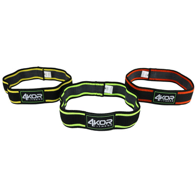 "Resistance Bands | Set of 3 Narrow Non-Slip Fabric Bands | Ultra Comfortable | 2"" Exercise Bands"