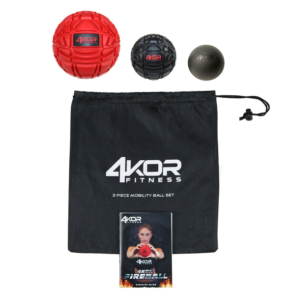 Ultimate Massage Ball Set | Enhanced Gripping Massage Grids | Fireball Recovery Ball Set