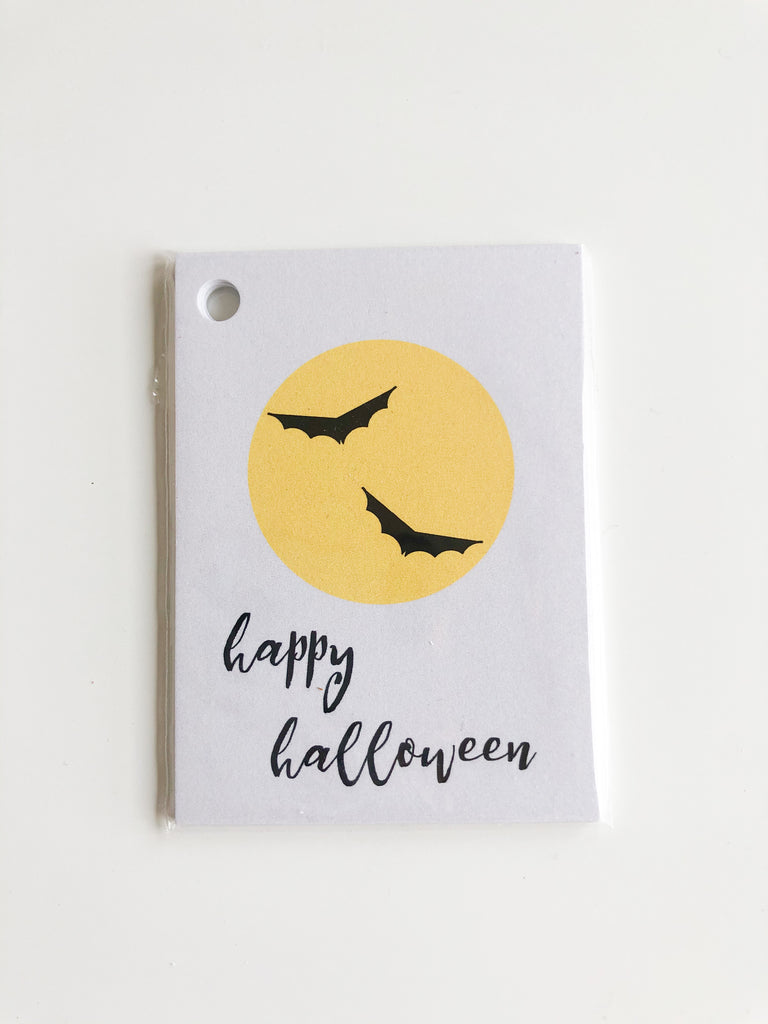 Happiernotes Halloween Bats Gift tags