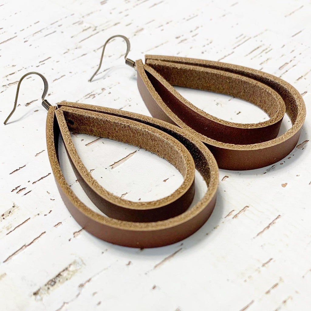 The Hollow Teardrop Earrings (standard and mini size)
