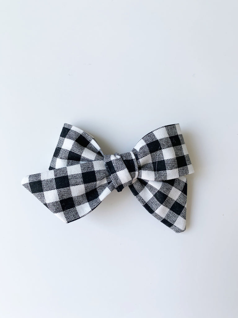 Tied School Girl Hair Bow with clip