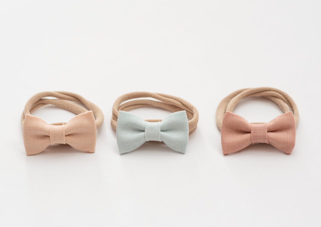 Mini Cotton Bows 3 pack