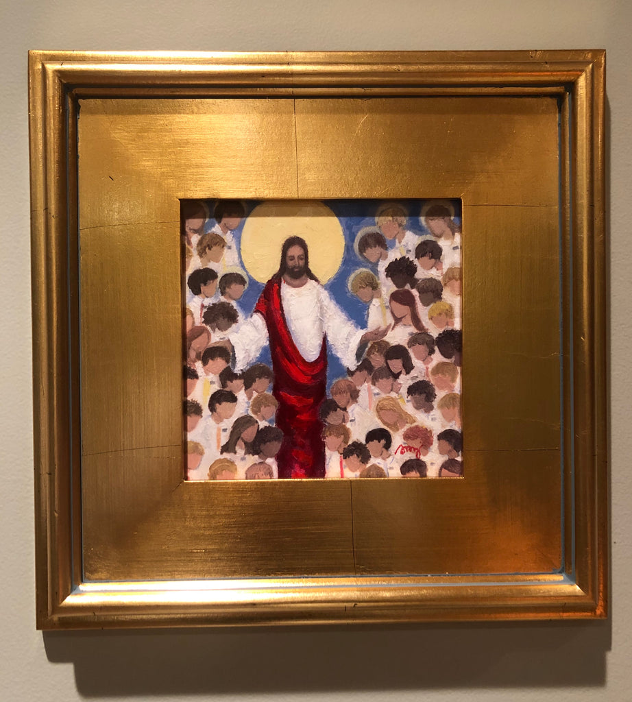 Christ With Missionaries Framed