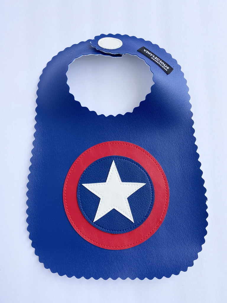 Captain America Bib from Vinylicious