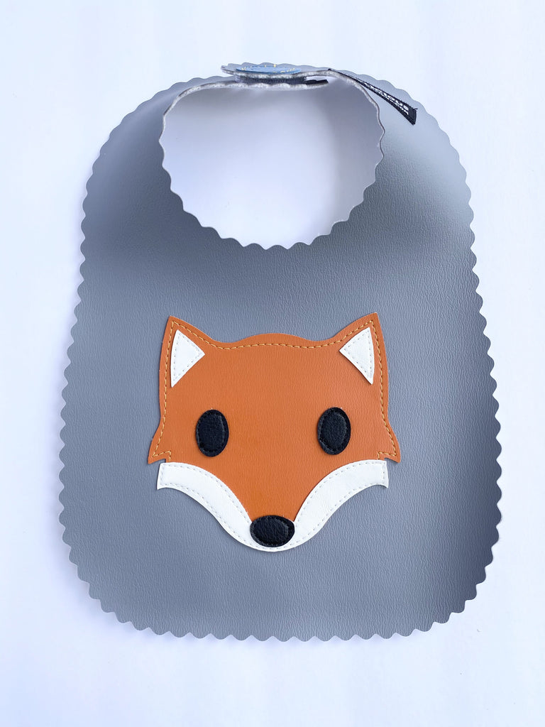 Grey Fox Bib from Vinylicious