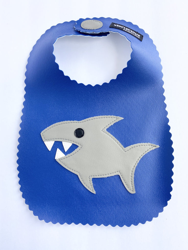 Royal Shark Bib from Vinylicious