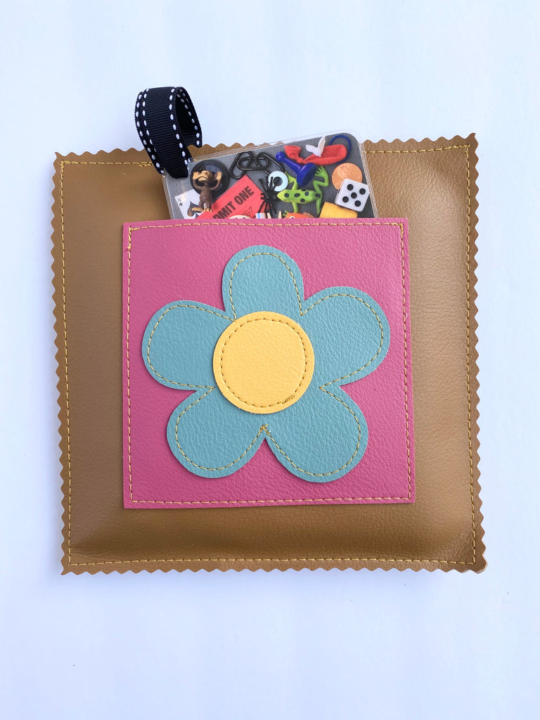 "Brown Daisy ""I Spy"" Game from Vinylicious"