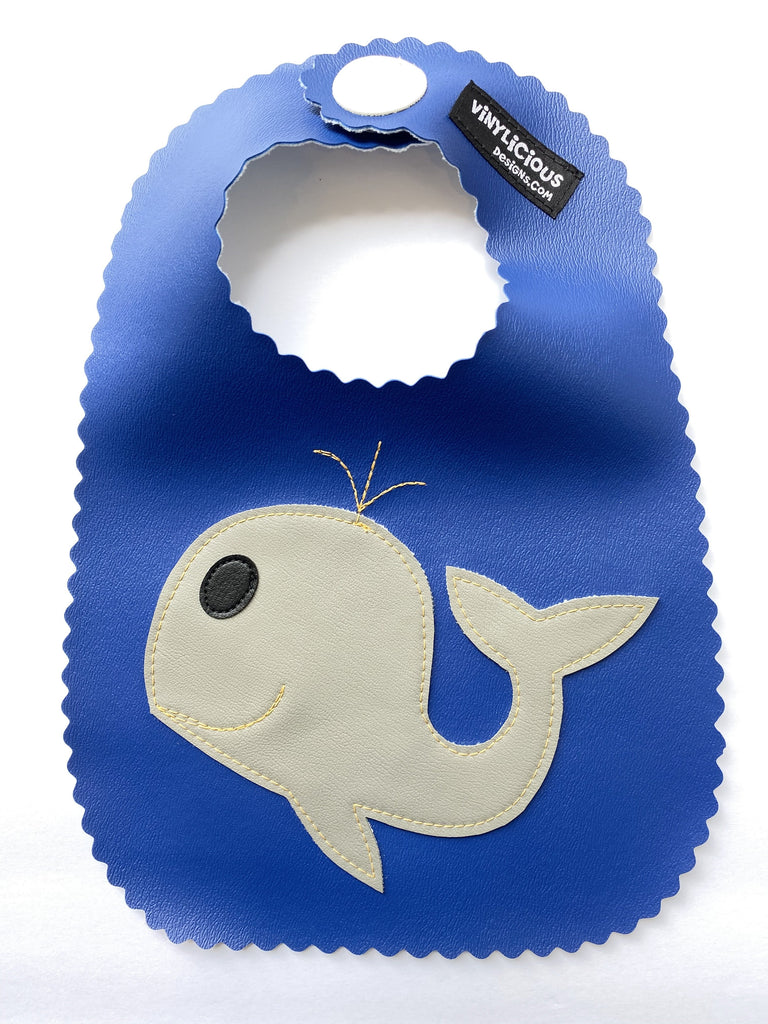 Royal Whale Bib from Vinylicious