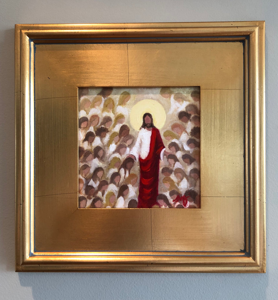 Christ with Women Framed