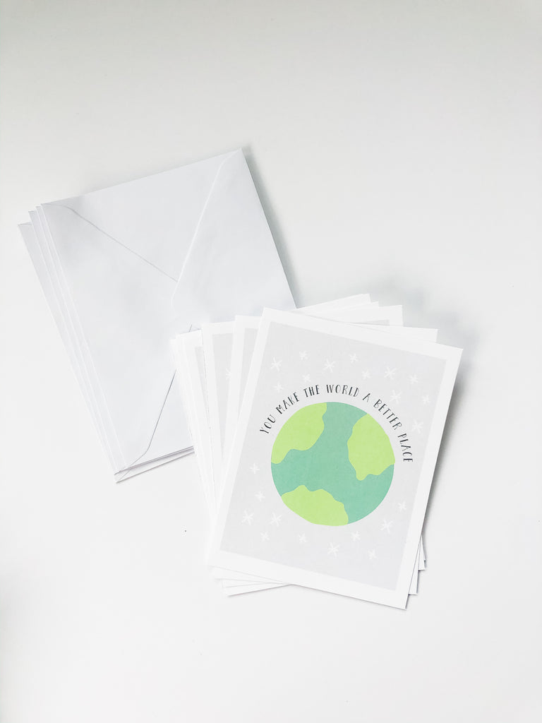 "Happiernotes ""Make The World A Better Place"" cards"