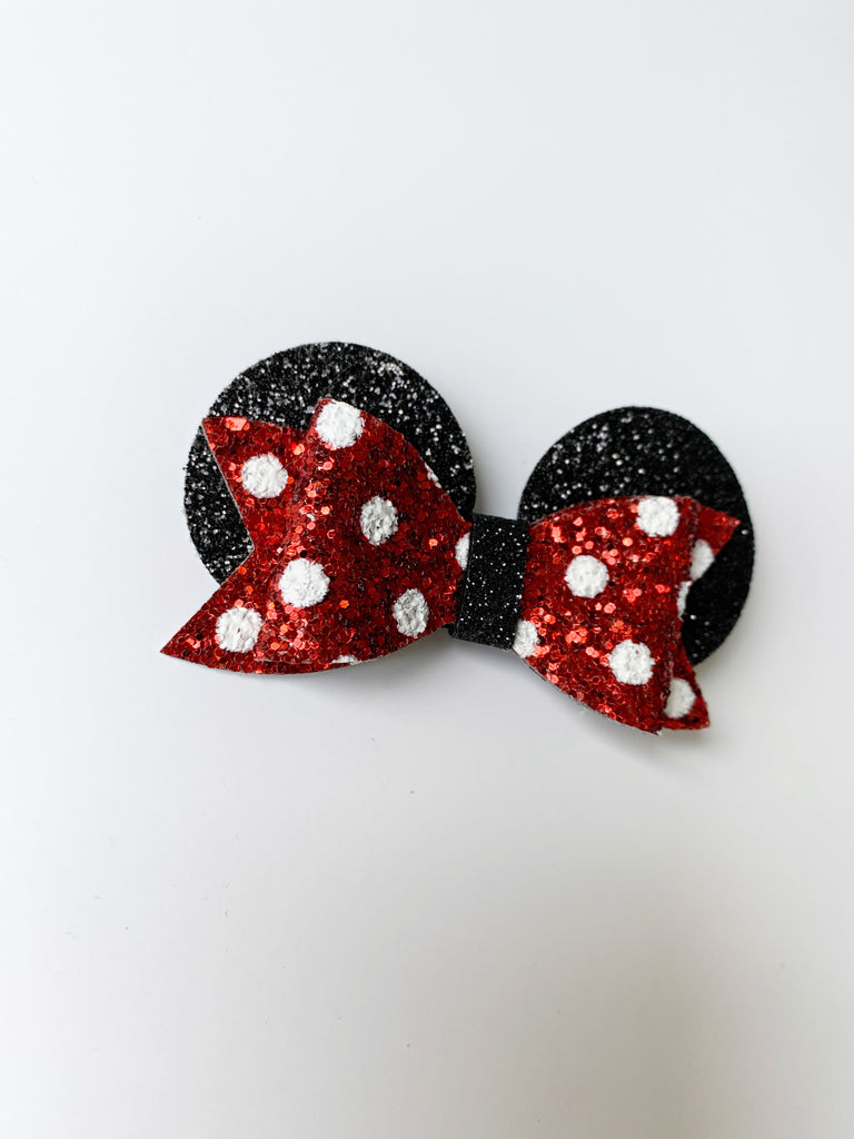 Red Mickey Mouse Bows