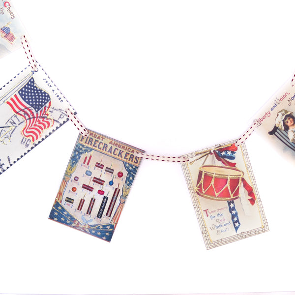 4th of July Vintage Garland