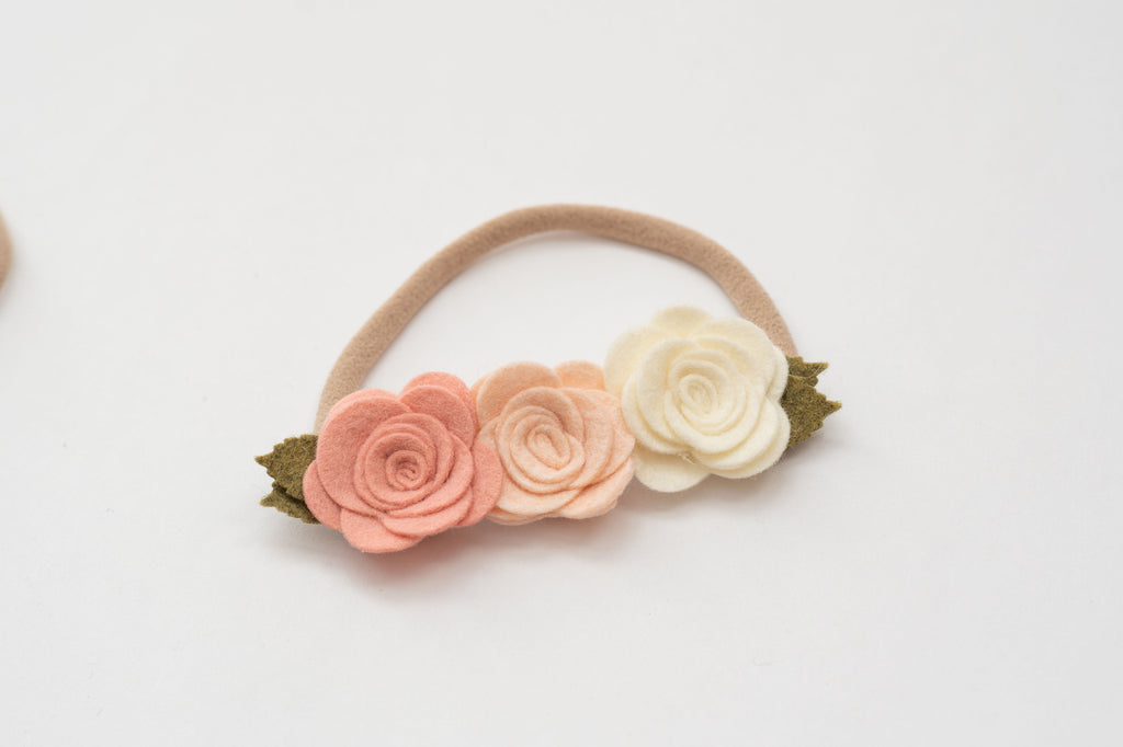 Felt Flower Crown Headband
