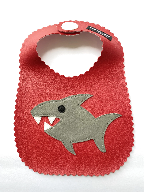 Red Shark Bib from Vinylicious