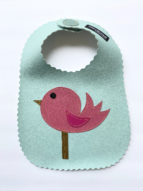 Aqua Bird Bib from Vinylicious