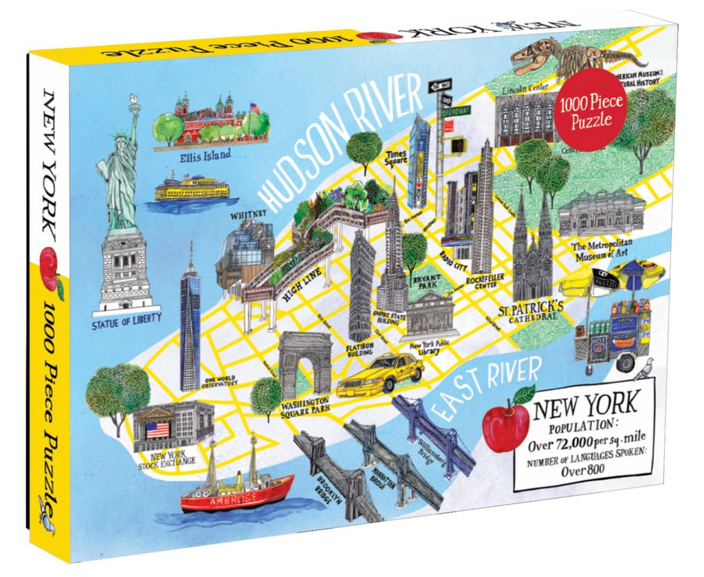 New York Map Puzzle 1000 piece