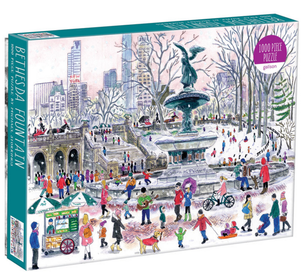 Bethesda Fountain by Michael Storrings Puzzle 1000 piece