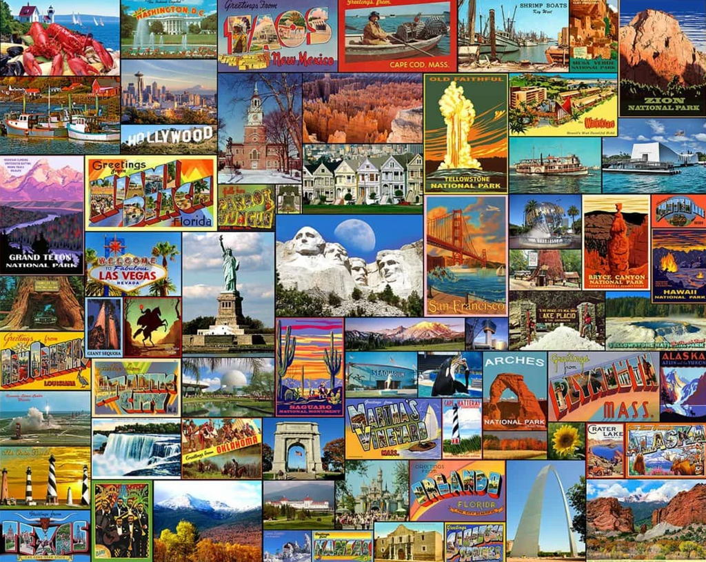 Best Places in America puzzle 1000 piece