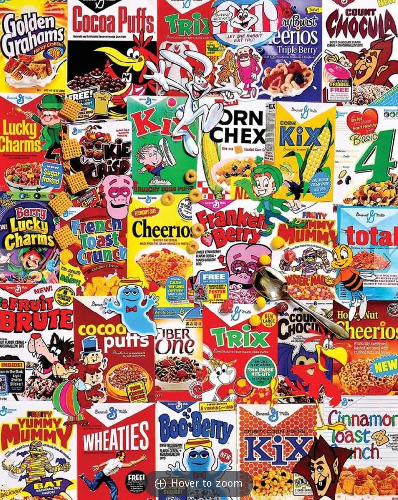 Cereal Boxes puzzle 1000 piece