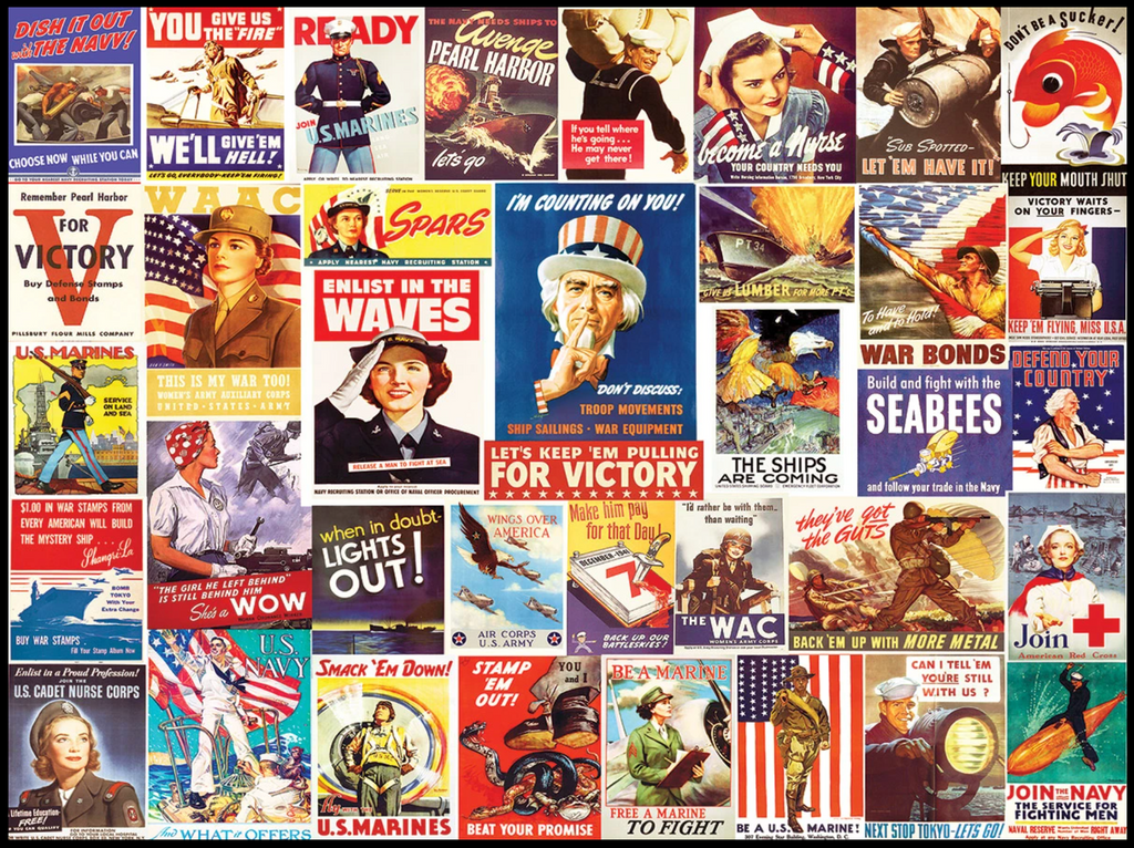 Vintage World War II Posters puzzle 550 piece
