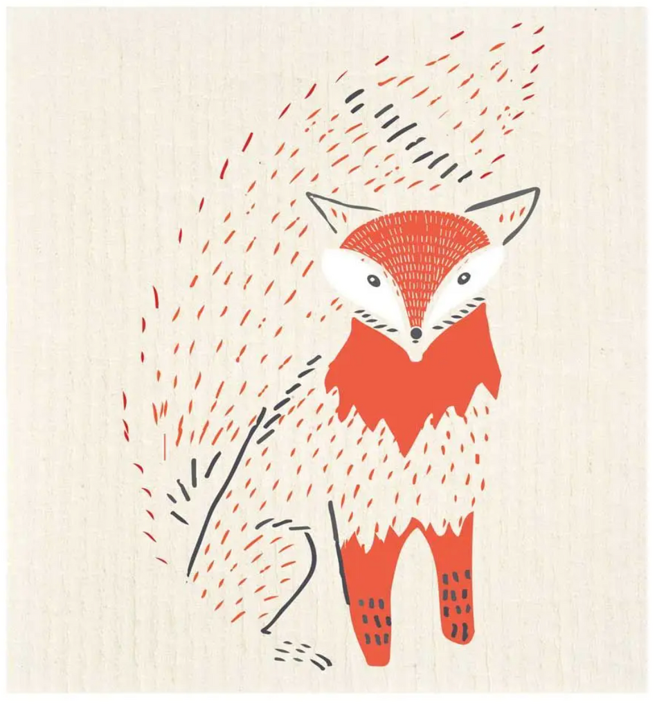 Foxy Bushy Tail Swedish Dishcloth