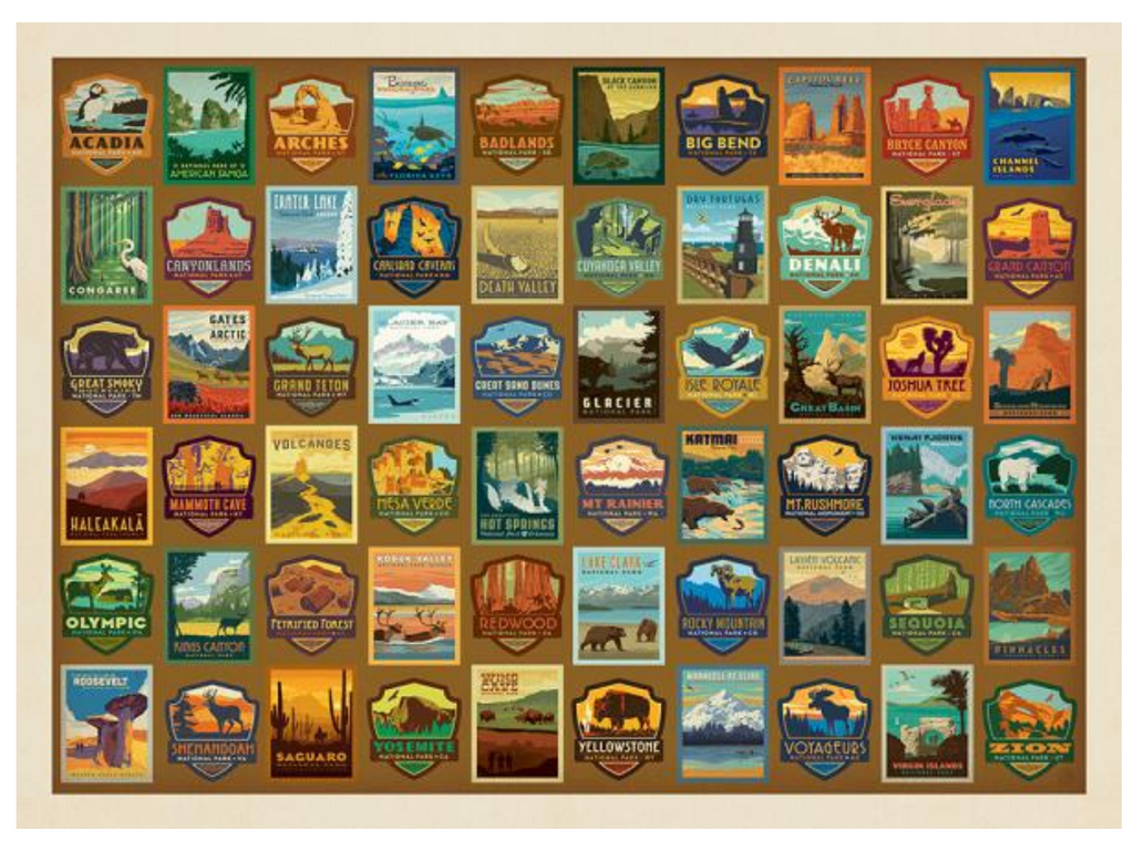 National Parks Patches True South puzzle