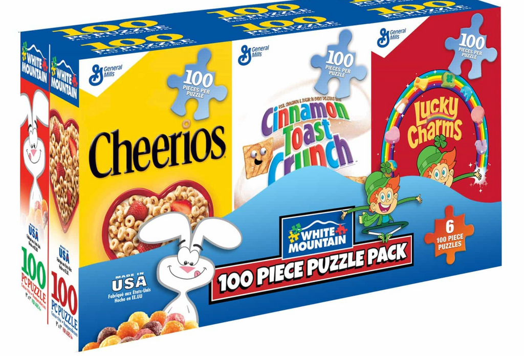 Mini Cereal Boxes 100 piece puzzles