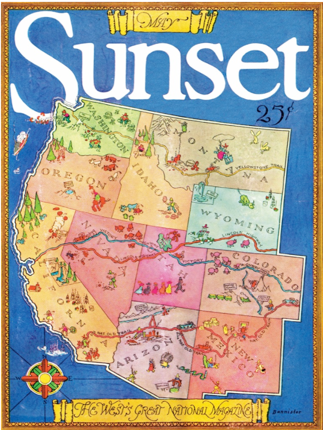 Magazine of the West, Sunset Magazine Cover Puzzle