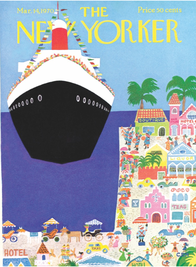 Cruise Ship - New Yorker Magazine Cover Puzzle