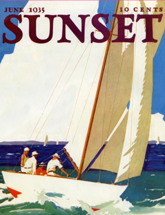 Day Sailing Mini Puzzle, Sunset Magazine