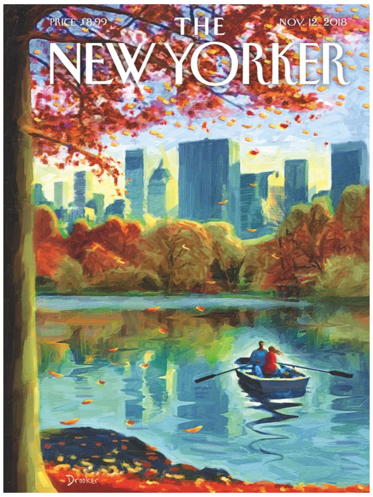 Central Park. Row, New Yorker Magazine Cover Puzzle