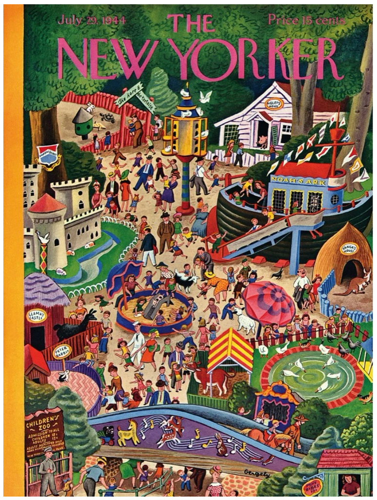 Day at the Zoo, New Yorker Magazine Cover Puzzle