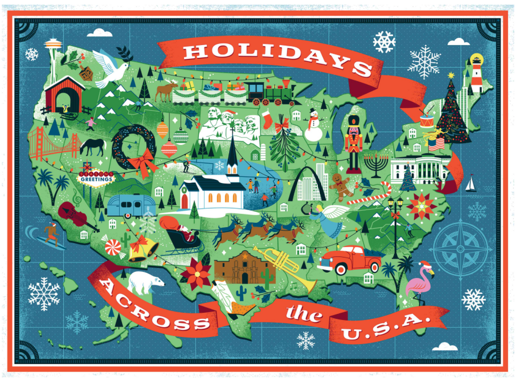 Holiday's Across America True South puzzle