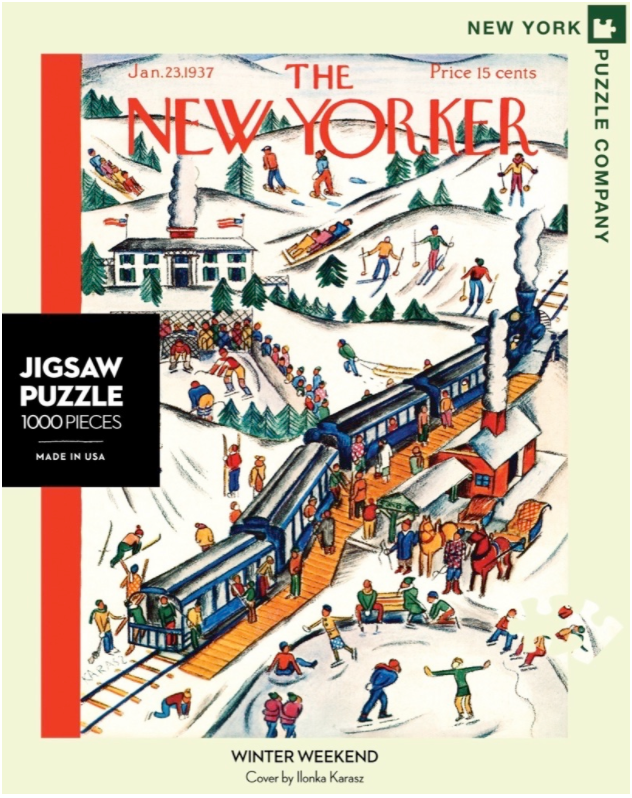 Winter Weekend - New Yorker Magazine Cover Puzzle