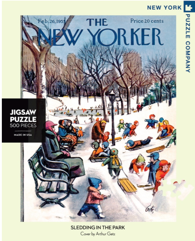 Sledding in the Park - New Yorker Magazine Cover Puzzle