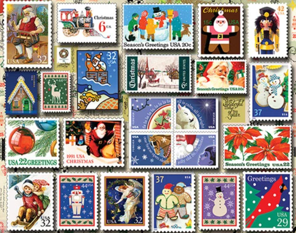 Holiday Stamps 550 Piece Puzzle